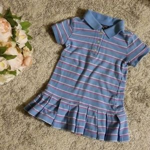 Children's Place blue and pink polo dress